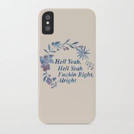 Floral Rap #1 iPhone Case