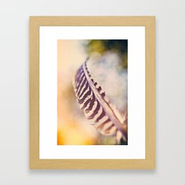 Let the wind carry you Framed Art Print