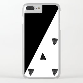 Triangle and triangles Clear iPhone Case