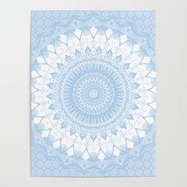 Baby Blue Boho Mandala Poster