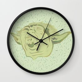 Yoda and the green force Wall Clock