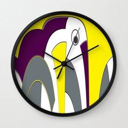 Elephant Abstract Wall Clock
