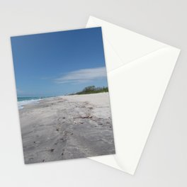 Beach stroll photo taken at Stump Pass State Park on Manasota key Florida Stationery Cards