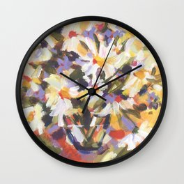 Daisy Delight Wall Clock