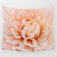 dahlia Wall Tapestries featuring Dahlia by Suzanne Brummel