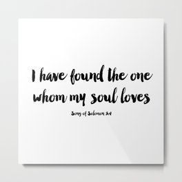 Song of Solomon Metal Print