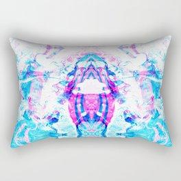 Cyan Fire Rectangular Pillow