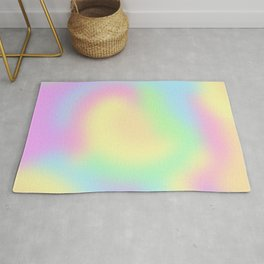 Soft Pastel Rainbow Gradient Design! Rug