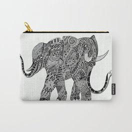 Snakelephant Indian Ink Hand Draw Carry-All Pouch