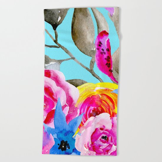 spring flowers i Beach Towel