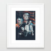 house of cards Framed Art Prints featuring House of Cards by Barel Toledano