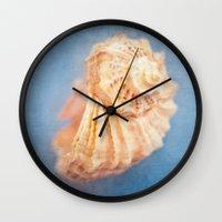 seashell Wall Clocks featuring Seashell by The Last Sparrow
