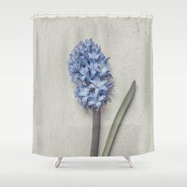 One Light Blue Hyacinth Shower Curtain