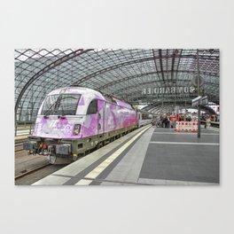 Berlin Electric Pink Canvas Print