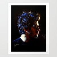 cyrilliart Art Prints featuring Blue Zayn by Cyrilliart
