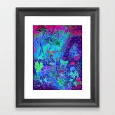 Pink Cloudy Mushroom Framed Art Print