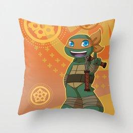 TMNT Chibi Mikey Throw Pillow
