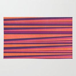 Happy Horizontal Lines Pink Version Rug