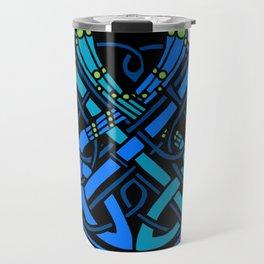 Celtic Peacocks Letter O Travel Mug