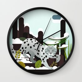 Snow Leopard - Made for the Mountains Wall Clock