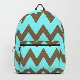 Mocha Mint Frappuccino Chevron Backpack