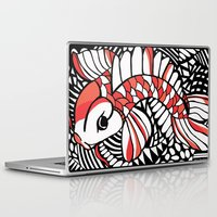 sassy Laptop & iPad Skins featuring Sassy Koi by Marcy Murakami
