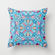 Folk mandala Throw Pillow