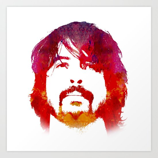 D. Grohl Art Print
