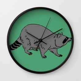 The Sly Racoon Wall Clock
