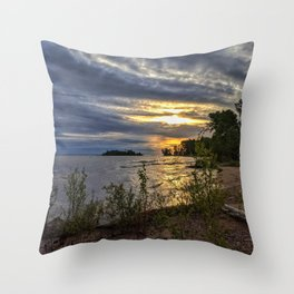 Stormy Shoreline - Home Decor. Throw Pillow