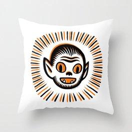 Werewolf Head Throw Pillow