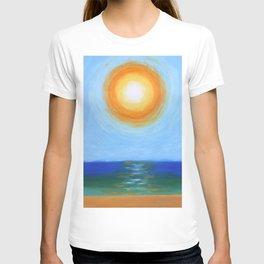 Haitian Sunrise coastal landscape painting by Joseph Stella T-shirt