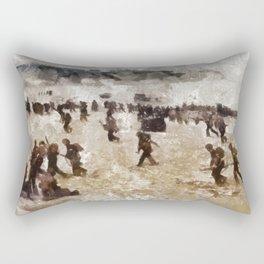 D-Day Landings, WWII Rectangular Pillow