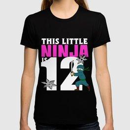 Birthday Ninja Party Samurai Ninjas Gift Japanese Ninja stars Fighter Gift 12 T-shirt