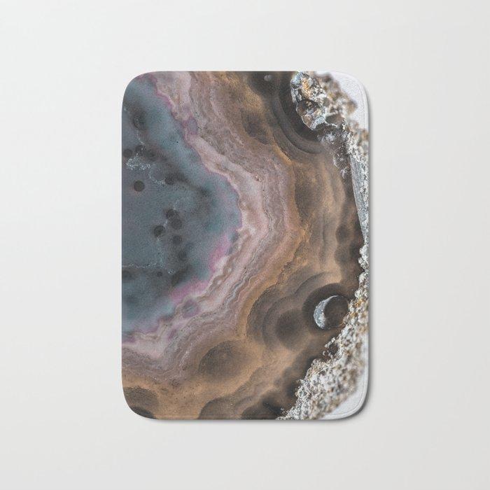 Multi colored agate slice Bath Mat