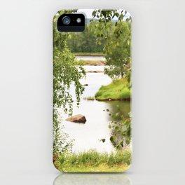 Riverside Kemijoki Finland iPhone Case