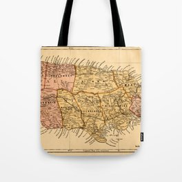 Map Of Jamaica 1893 Tote Bag