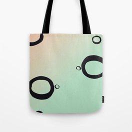Geometric Art Print - Peach and Mint Tote Bag