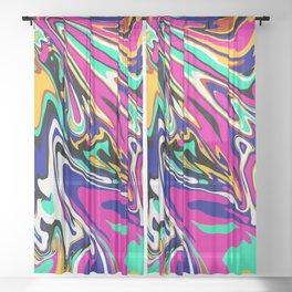 Candy Coated Swirl Sheer Curtain