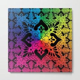 talavera mexican tile in rainbow colours Metal Print
