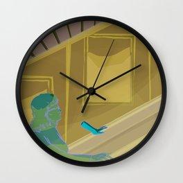 Escalator ride Wall Clock