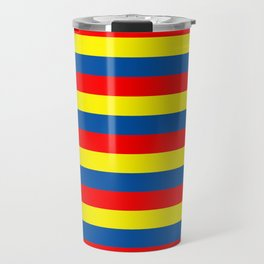 andorra Ecuador romania moldova chad colombia orkney flag stripes Travel Mug