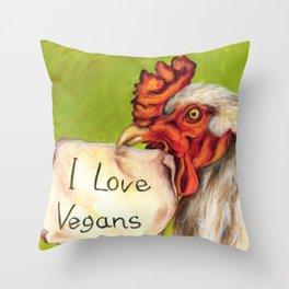 I Love Vegans! Throw Pillow