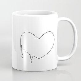 Minimal dripping heart Coffee Mug