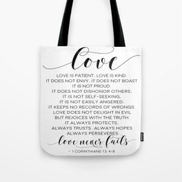 DEFINITION OF LOVE, Love Is Patient Love Is Kind,Love Quote,Love Art,Love Gift,Darling Gift,Love you Tote Bag