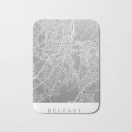 Silver Belfast map Bath Mat