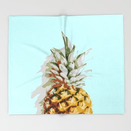 Summer Ananas Throw Blanket