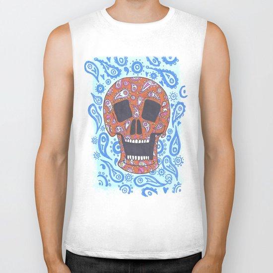 Paisley Skull Biker Tank