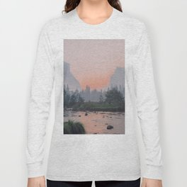Yosemite Valley Sunrise Pretty Pink Long Sleeve T-shirt