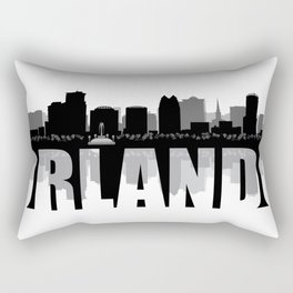 Orlando Silhouette Skyline Rectangular Pillow